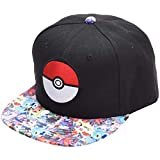 Youth Hat for Boys Black Snapback Hat for Girls Kids Flat Bill Hat (Black)