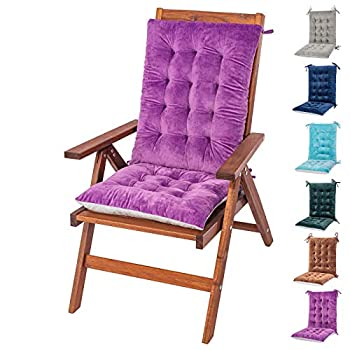 MOIRIG Rocking Chair Cushion and Pads Chair Cushions Back and Seat Cushion for Desk Chair Dining Chairs Kitchen Chair Lounge Chair  Violet Flannel 1