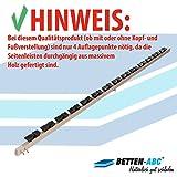 Betten-ABC Lattenrost Max 1 NV zur Selbstmontage/Lattenrahmen in 90 x 200 cm mit 28 Leisten und Mittelzonenverstellung - geeignet für alle Matratzen - 3