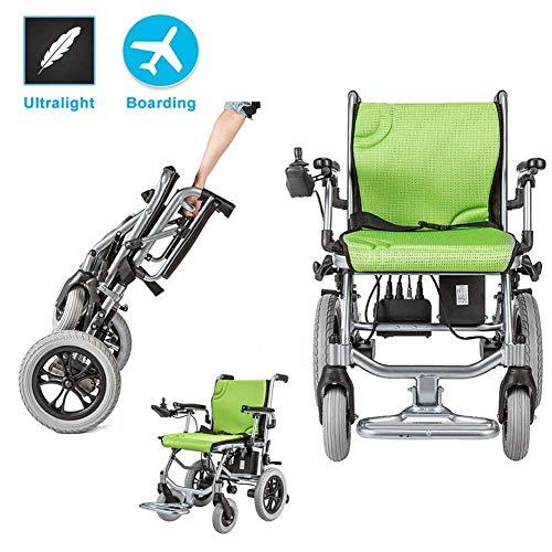 Wheelchair Silla de ruedas, silla de rehabilitación médica para personas mayores, personas mayores, silla de ruedas con motor eléctrico, peso ligero plegable de 16 kg, ancho del asiento de 45 cm, sil