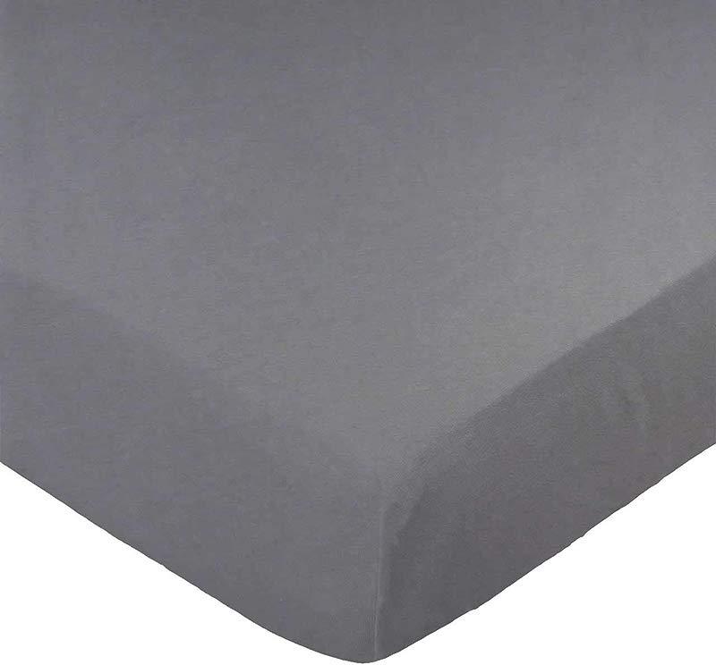 SheetWorld Fitted 100 Cotton Jersey Playard Sheet Fits BabyBjorn Travel Crib Light Dark Grey 24 X 42 Made In USA