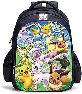 LINJIA Mochila Pokemon 16 Pulgadas Pokemon Pikachu Umbreon Eevee niños Mochilas Escolares Mochila ortopédica niños Escolar...
