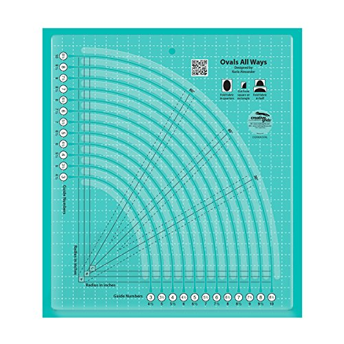 Creative Grids Ovals All Ways Quilt Ruler