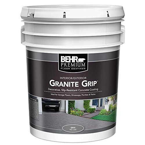 BEHR 5 gal. Gray Granite Grip Interior/Exterior Concrete Paint