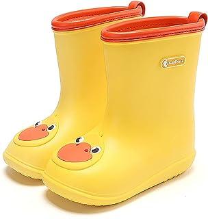 Nasogetch Kids Wellies Boys Girls Wellington Boots Rain Boots Lightweight Waterproof