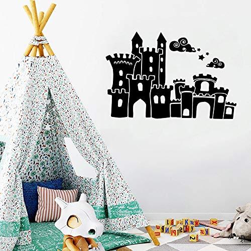 WERWN Pegatinas de Pared de Vinilo de Castillo de Dibujos Animados creativos decoración de habitación de niños Pared Decorativa