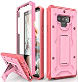 ArmadilloTek Vanguard Designed for Samsung Galaxy Note 9 Case (2018 Release) Military Grade Full-Body Rugged with Built-in Screen Protector & Kickstand (Pink)