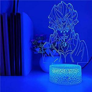 Beautiful Gift 3D nightlight Illusion lamp,JoJo's Adventure Dio Brando Character Image Children Anime Decoration Lamp