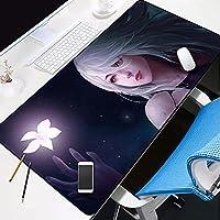 ニーア オートマタ マウスパッド 超大型 ゲーミング おしゃれ 気分転換 テーブルマット オフィス 滑り止め 操作感 ゲーム 耐用 防水 汚れ 埃 防止 デスクパッド 大型 ゲーミングマウスパッド パソコンマット レーザー 光学式マウス対応-A_600×300×3mm