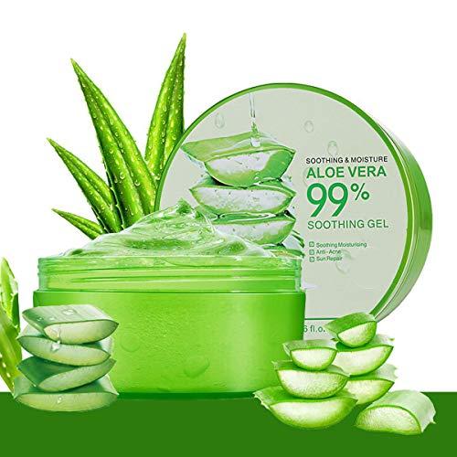 Aloe Vera Gel, Aloe Vera Creme, Bio Aloe Vera, After sun gel für Gesicht, Haare und Körper, Ideal für Sonnenbrand Reparieren, trockene strapazierte Empfindliche Haut - 300ml