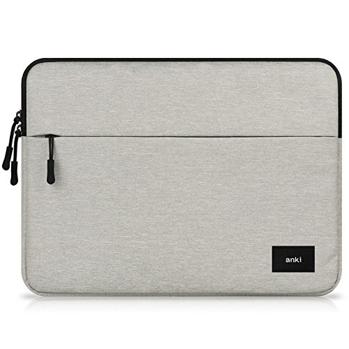 11.6 in 12 inch Water Resistant Canvas Tablet Sleeve Case Bag for Acer Switch 5 / Aspire Switch 12 / Aspire Switch 11 / TravelMate X313 / Iconia W700 / Lenovo Miix 720 / ThinkPad (11.6-12 Inch, Grey)