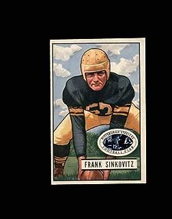 1951 Bowman Football #095 Frank Sinkovitz STARX 6 EX/MT CS53109