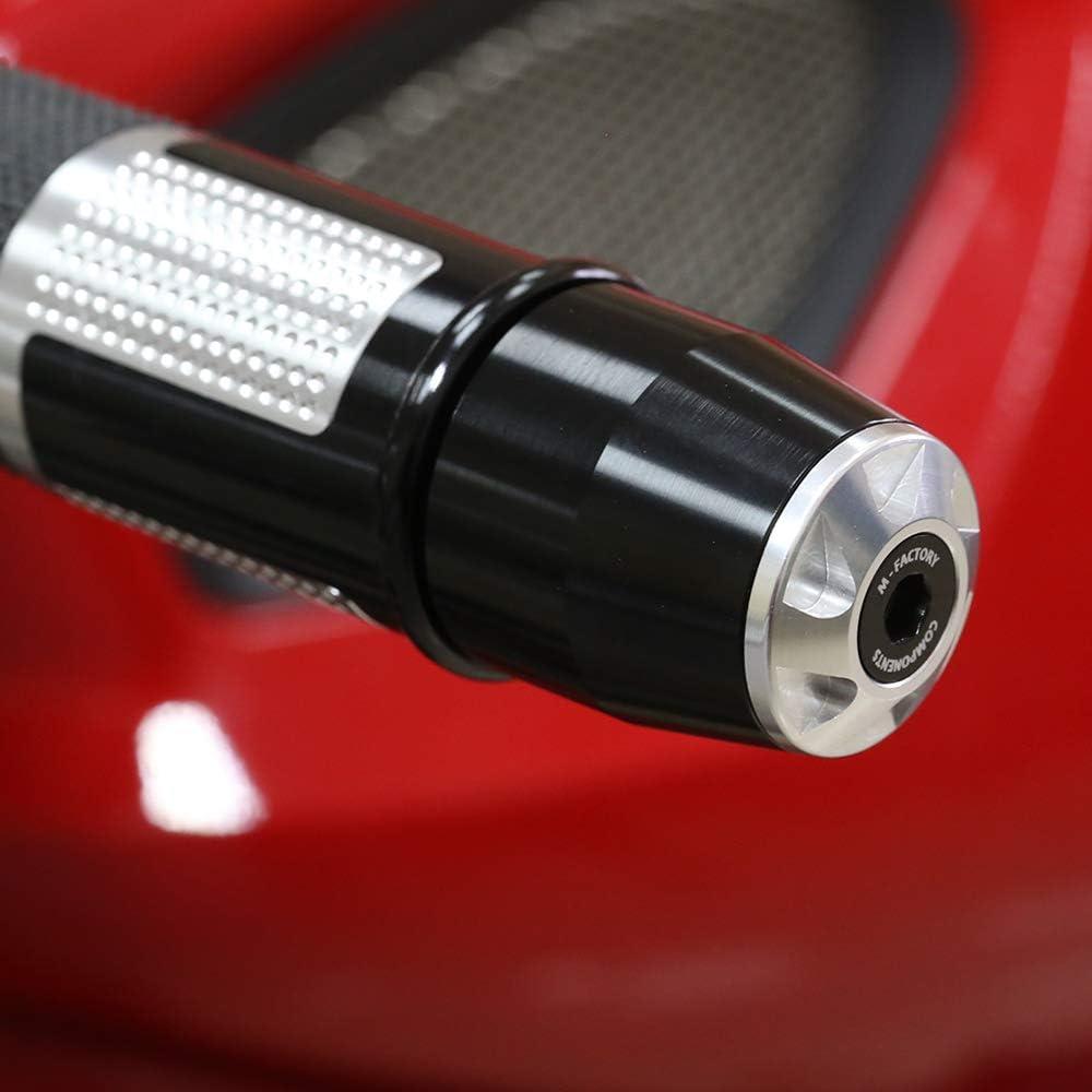 Toka Black CNC Handlebar Bar Ends Sliders Fit Ducati Panigale 1199//899 13-16 Panigale 1299//959 15-18 16 17