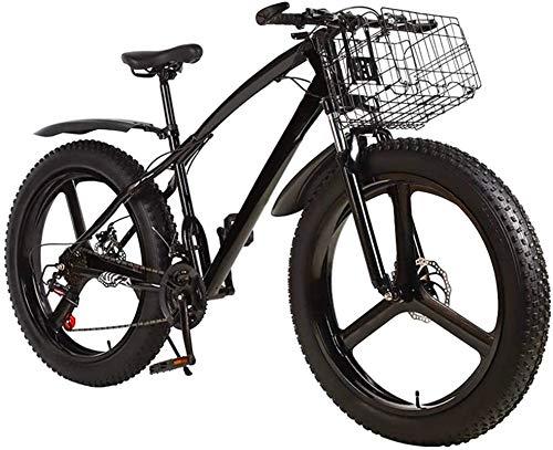 Bicicleta eléctrica de nieve, Fat Tire bicicletas de montaña for hombre Outroad, 3 Spoke 26 en doble disco de freno for bicicleta de adulto Adolescentes Batería de litio Playa Cruiser para adultos