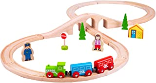 Bigjigs Rail Wooden Figure of Eight Train Play Set with Accessories