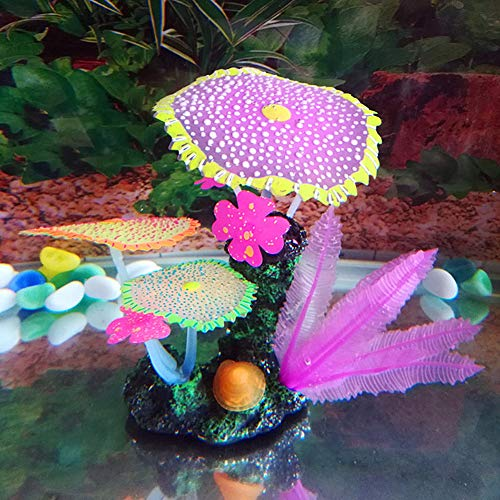 Aquarium Decoraties Fish Tank Ornament Vis Aquarium Decoratie Aquarium Kunstmatige Planten Aquarium Ornamenten Grote Aquarium Planten Kunstmatige purple,5.51inch