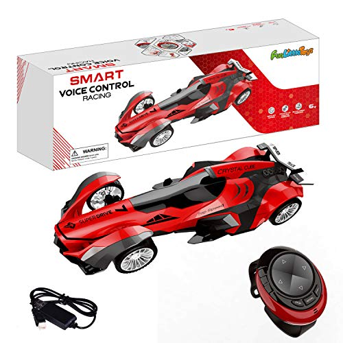 FUN LITTLE TOYS Remote Control Car, High Speed Racing Car with USB Charger, Multi Function & LED Light, Smart Watch Voice Command Remote Control Car