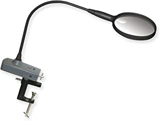 Carson MagniFly 2x Power Hands Free Fly-Tying LED Lighted Gooseneck Magnifier with C-Clamp and AC/DC Adapter (OD-65)
