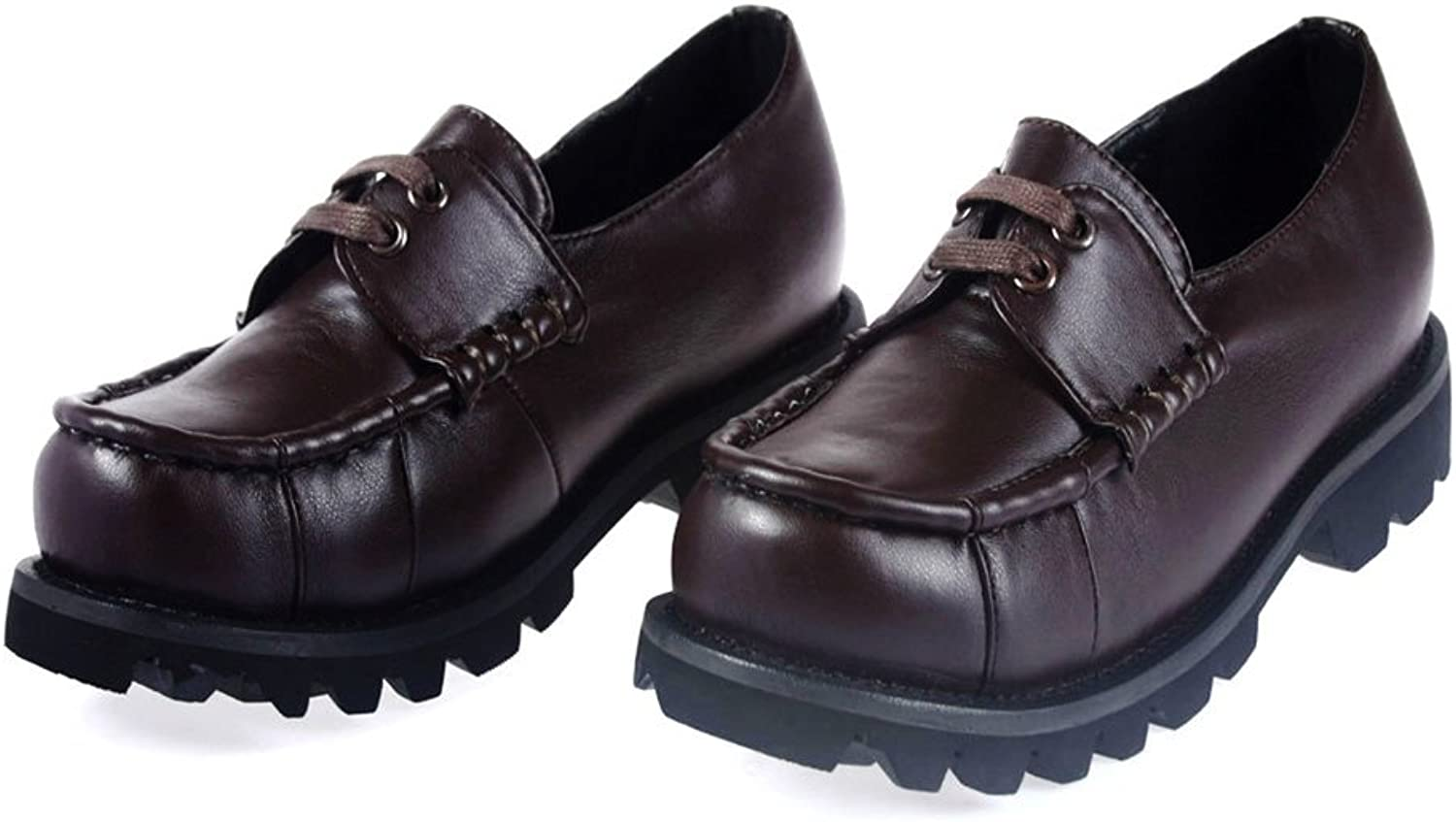 Mtxc Women's Final Fantasy£oType-0 Cosplay Cater Uniform shoes Brown