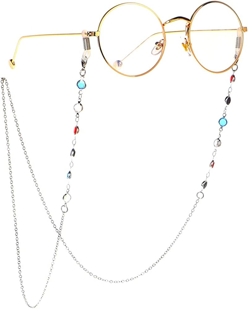 Pinksee Eyeglass Chain Sunglasses Strap Holder Cord Beaded Readi