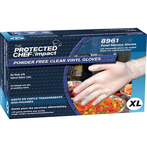 Disposable Vinyl Gloves XL, Latex Free General Purpose Gloves - Box of 100