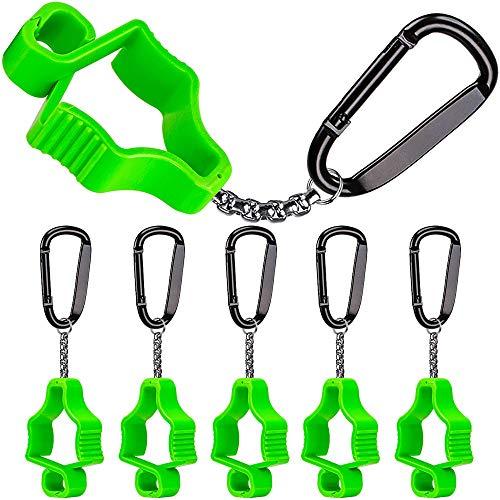 BeneLabel 5pcs Glove Grabber Clip Holder Work Glove Safety Clip Glove Keeper, Green