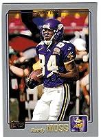 2001 Topps Minnesota Vikings Team Set with Randy Moss & 2 Cris Carter - 10 Cards