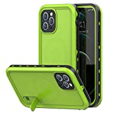 Magnetic Case for iPhone 12 Pro Max with Mag-Safe Charging,Waterproof with Built-in Screen Protector Military Grade Drop Tested Rugged Shockproof Kickstand for Apple iPhone 12 Pro Max (Green)