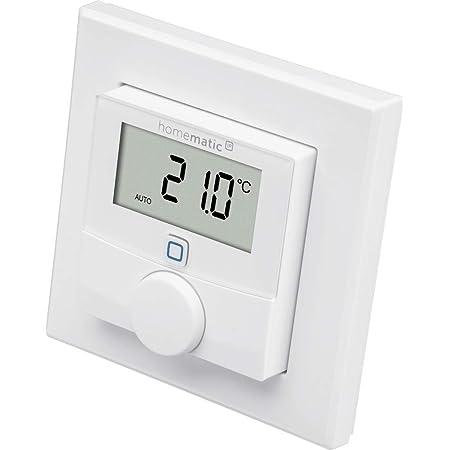 Homematic IP Smart Home Termostato de Pared con Sensor de Humedad, Control Inteligente de calefacción Mediante aplicación y Amazon Alexa, 143159A0