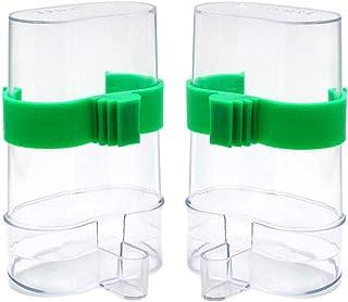 2PCS Comedero de Pájaros Automático,JPYH Dispensador de Alimentos Alimentador Automático Dispensador de Agua para Periquit...