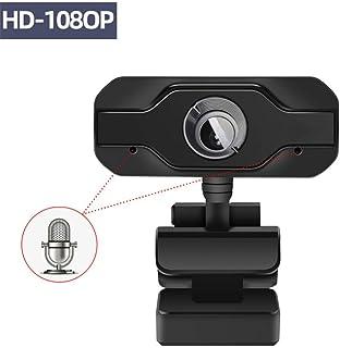 Anonyme HD Webcam 19201080 Noise Cancelling Microphone Mini Computer Camera for Desktop Laptop Black