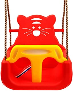 3 in 1 Color Children Swing Outdoor Toys Baby Swing Toys (Color : Red)