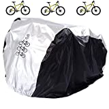 Aiskaer Waterproof Bicycle Cover Outdoor Rain Protector for 1-3 Bikes-dustproof and Sunscreen.Large Size for Mountain Bike Cover, Electric Bike Cover with Windproof Buckle Strap