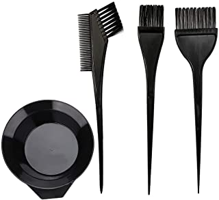 Hair Dye Color Brush and Bowl Set, 4Pcs Color Bowl Brushes Tool Mixing Bowl Kit Tint Comb for Hair Tint Dying Coloring Applicator