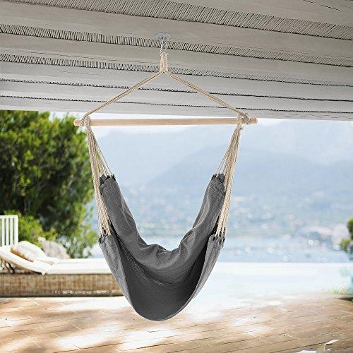 casa.pro] Hamaca XXL (100 x 100 cm) (Gris) Silla Colgante sillón Colgante