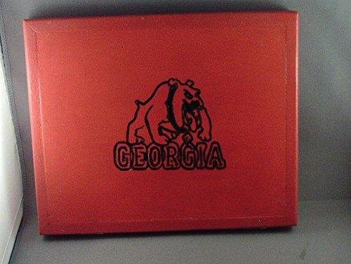 handmade university of Georgia Bulldogs wooden Ipad case