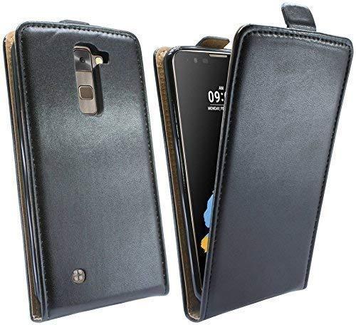 ENERGMiX Handytasche Flip Style kompatibel mit LG Stylus 2 (K520) in Schwarz Klapptasche Hülle Tasche Case Etui Schale Flip-Cover