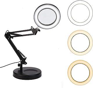 Lámpara de lupa de escritorio USB Tatuaje Lámpara de lupa plegable de 5X Lámpara led con base Flex Lámpara de lupa Abrazadera Mesa y lámpara de escritorio Ahorro de energía