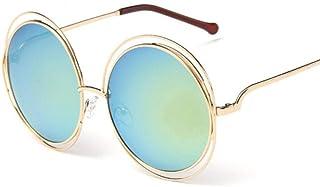 HPPSLT - Redondo Gafas de Sol Polarizadas para Hombres y MujeresMetálico Montura, Gafas de Sol Retro de Metal con Montura Redonda de Tendencia Europea y americana-10