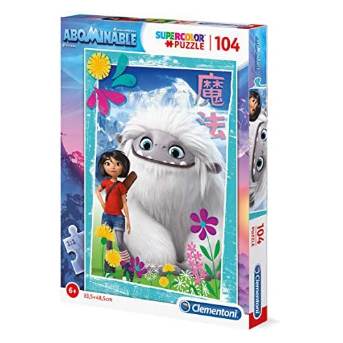 Clementoni - 27272 - Supercolor Puzzle - Abominable - 104 Pezzi - Made In Italy - Puzzle Bambini 6 Anni +
