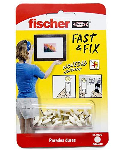 fischer 534843 Colgador para cuadros, Blanco