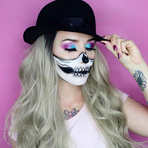 Ombre Blonde Lace Front Wig Synthetic Wigs for Women Long Wavy Ombre Wig 22 inches