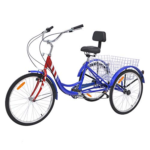 7 Best 3 Wheel Bikes For Seniors (Guide & Review) - Barbella 26 Inch Adult Tricycle