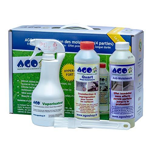 AGO - Propreté pour la maison et le jardin AGO Set anti-moisissures 4 piècesConcentré de haute qualité pour supprimer les moisissures dans votre maison ou appartement