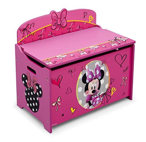 Delta Children Deluxe Toy Box, Disney Minnie Mouse
