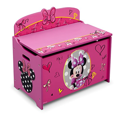 Delta Children Deluxe Toy Box, Disney Minnie Mouse