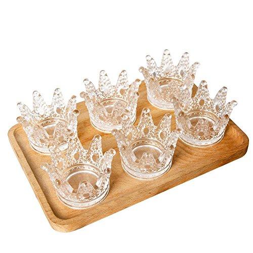 LOLPI Cenicero de cristal de cristal, mini cenicero de cristal, cenicero para manualidades, se puede utilizar como decoración o como regalo para enviar amigos (juego de 6)