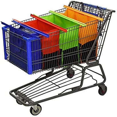 Reusable Shopping Cart Bags and Grocery Organizer Designed for Trolley Carts by Modern Day Living product image