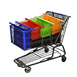 Reusable Shopping Cart Bags and Grocery Organizer Designed for Trolley Carts by Modern Day Living(4 Pack)