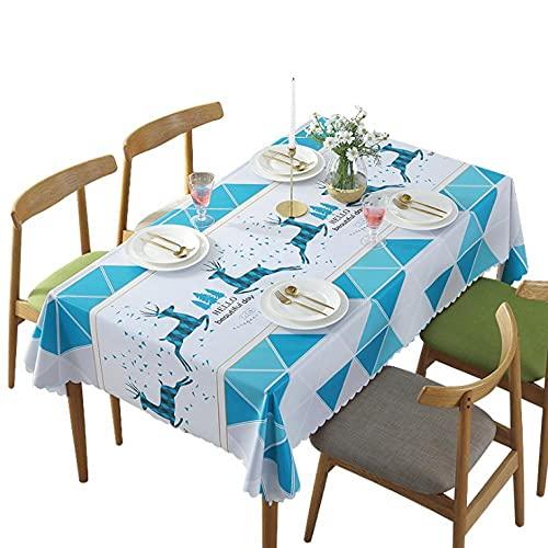 wasserdichte und ölgeschichte Tischdecke Tee Tischtuch Tuch Haushalt Netto Rot Ins Wind PVC Kleine frische Tuch Hirsch Flamingo-Hirsch_(L) 90 cm × (w) 135cm
